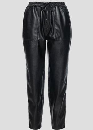 Blank NYC No Guidance Leather Jogger - Black-Hand In Pocket