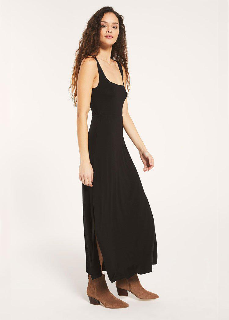 Z Supply Ashton Sleek Jersey Maxi Dress-Hand In Pocket