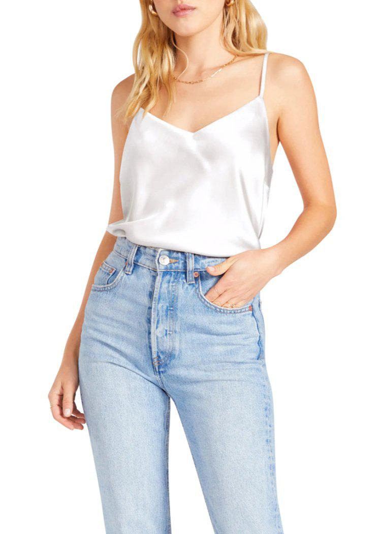 BB Dakota x Steve Madden Happy Together Satin Cami-White ***PREORDER***-Hand In Pocket