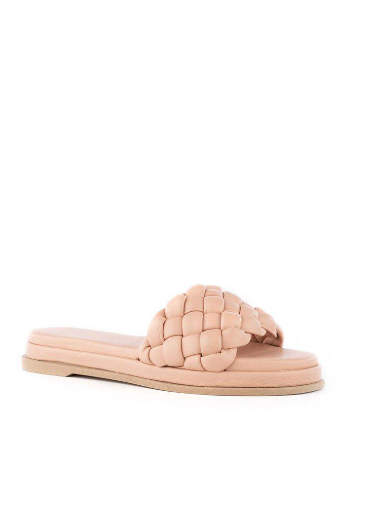 Seychelles Bellissima Puffy Woven Slide Sandal-Hand In Pocket