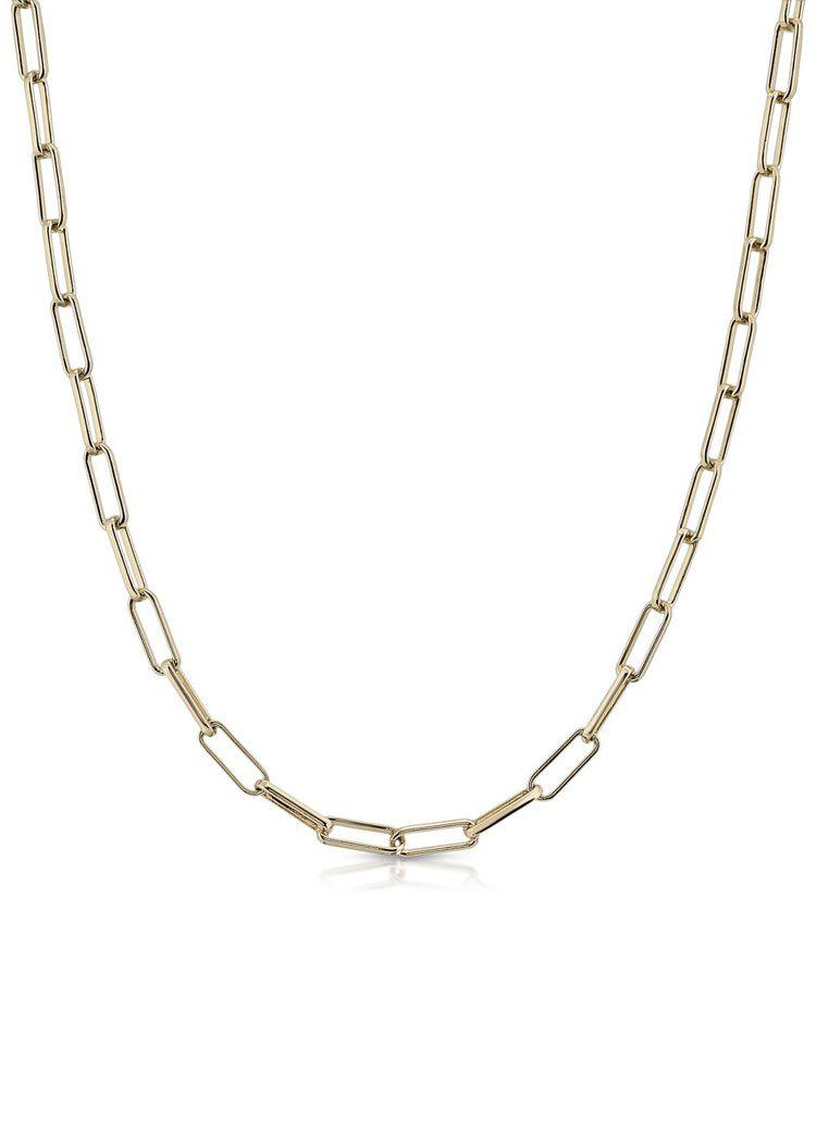 "Eklexic 18"" Elongated Link Chain-Gold-Hand In Pocket"
