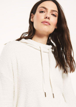Z Supply Kacey Feather Hoodie - Bone ***FINAL SALE***-Hand In Pocket