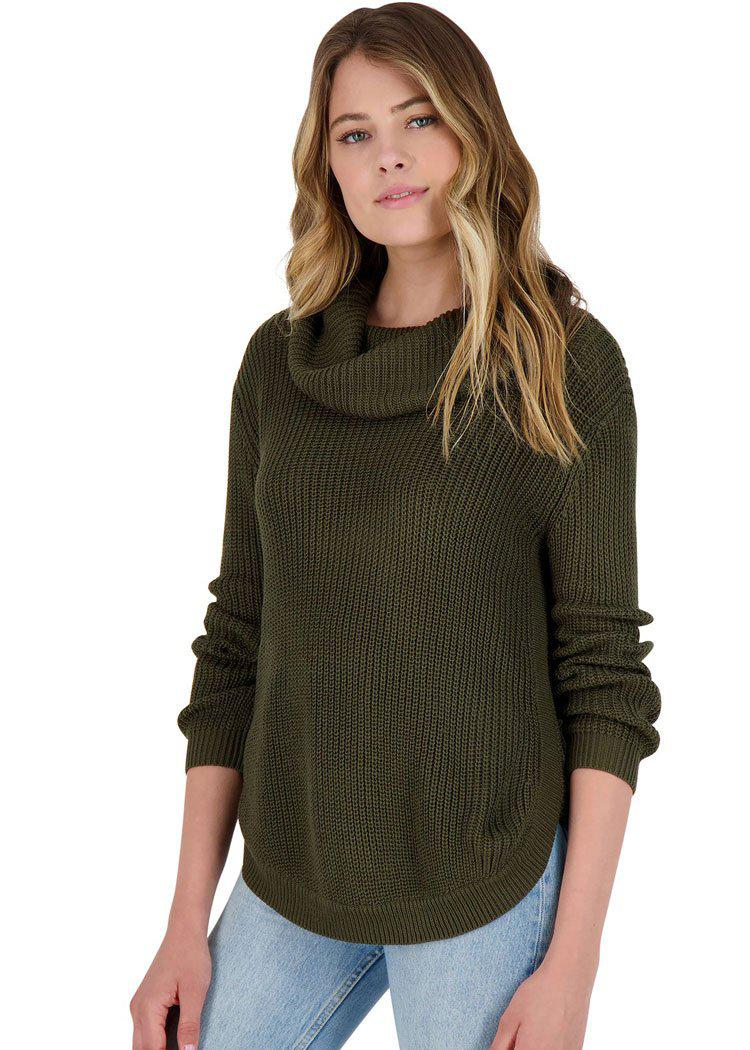 BB Dakota Forest For The Trees Ribbed Cowl Neck Sweater-***PREORDER***-Hand In Pocket