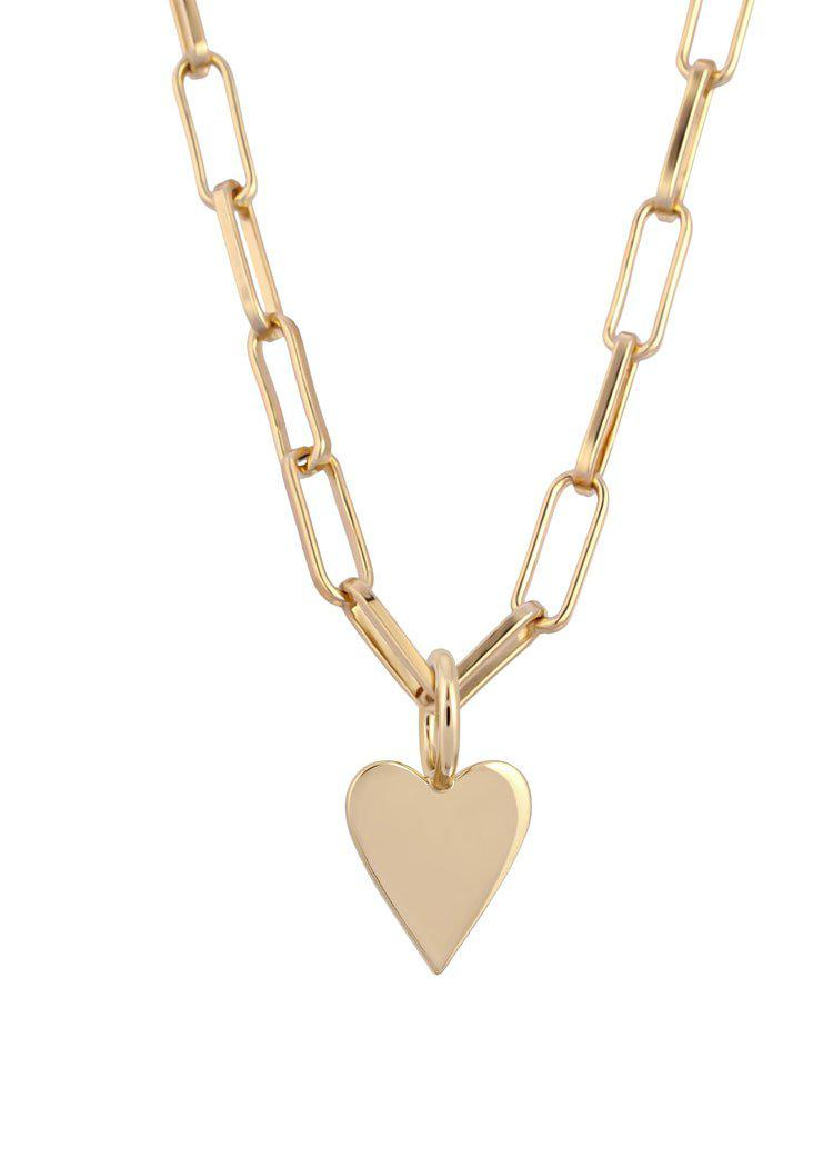 Eklexic Helena Charm Necklace-Gold-Hand In Pocket