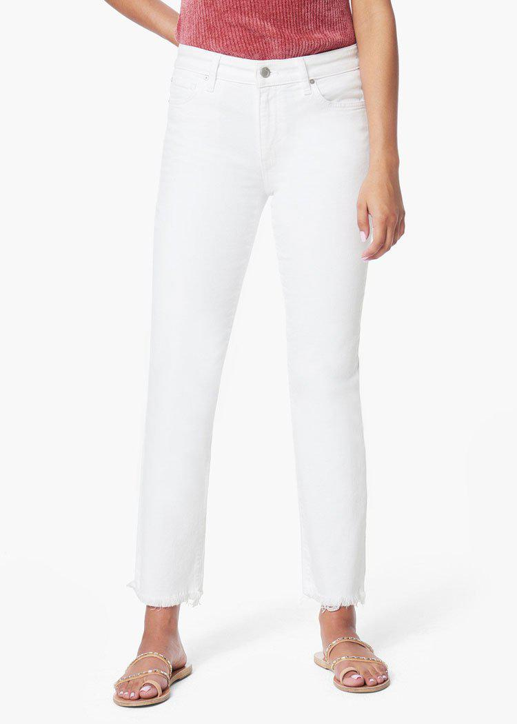 "Joes Jeans ""The Lara"" Mid Rise Cigarette Ankle - White-Hand In Pocket"
