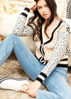 THML Bryce Leopard Print Cardigan-Hand In Pocket