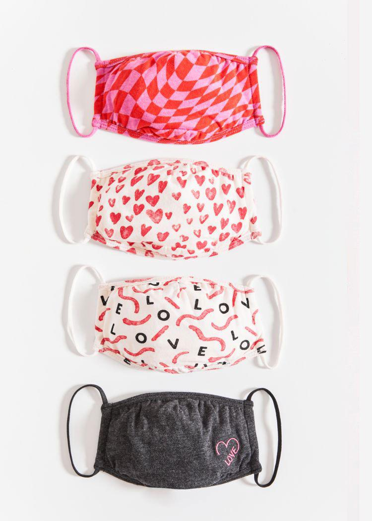 Z Supply Love in the Air Mask 4 Pack-***PREORDER***-Hand In Pocket