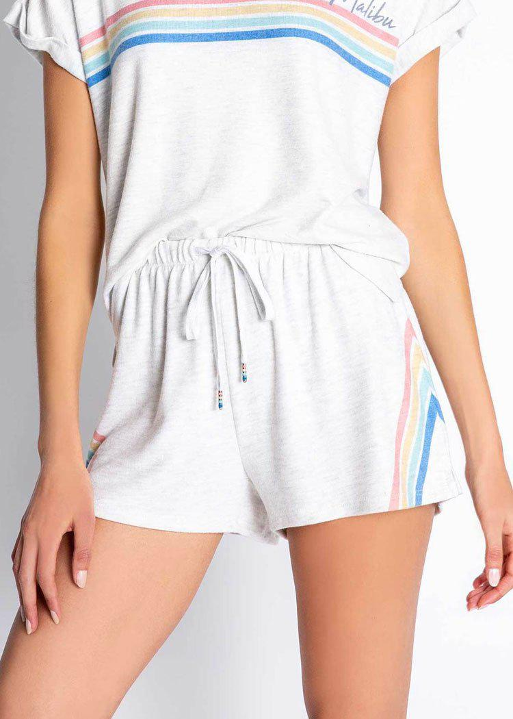PJ Salvage Essential Short with Rainbow Stripe-Hand In Pocket