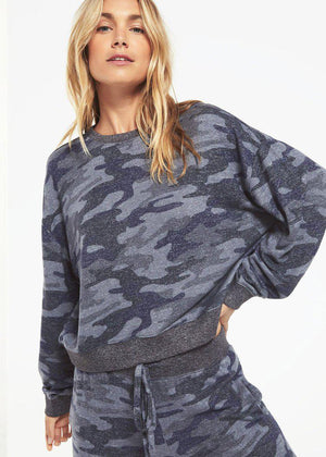 Z Supply Noa Marled Pullover-Hand In Pocket