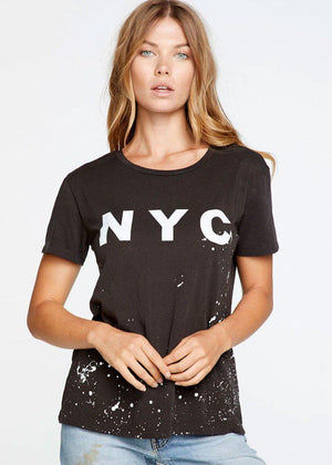 Chaser NYC Crew Neck Tee-Hand In Pocket