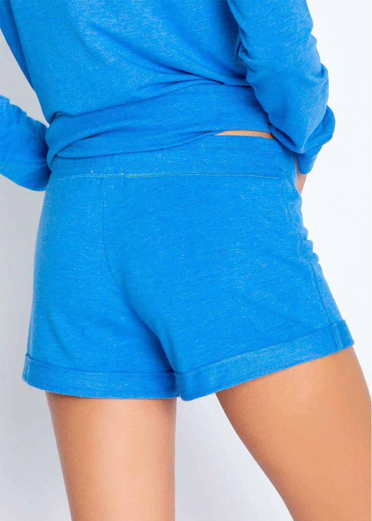 PJ Salvage Essential Short- Sea Blue-Hand In Pocket