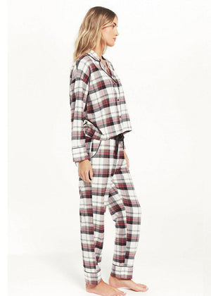 Z Supply Dream State Plaid PJ Set-***FINAL SALE***-Hand In Pocket