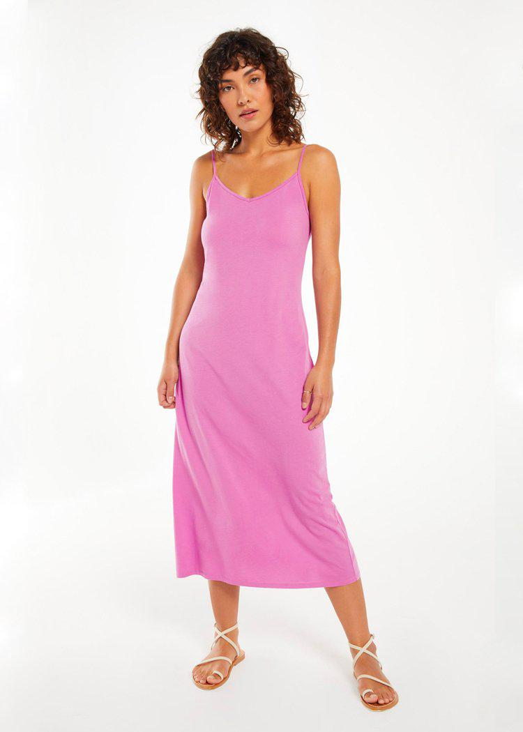 Z Supply Rayne Organic Slip Dress- Violet ***PREORDER***-Hand In Pocket