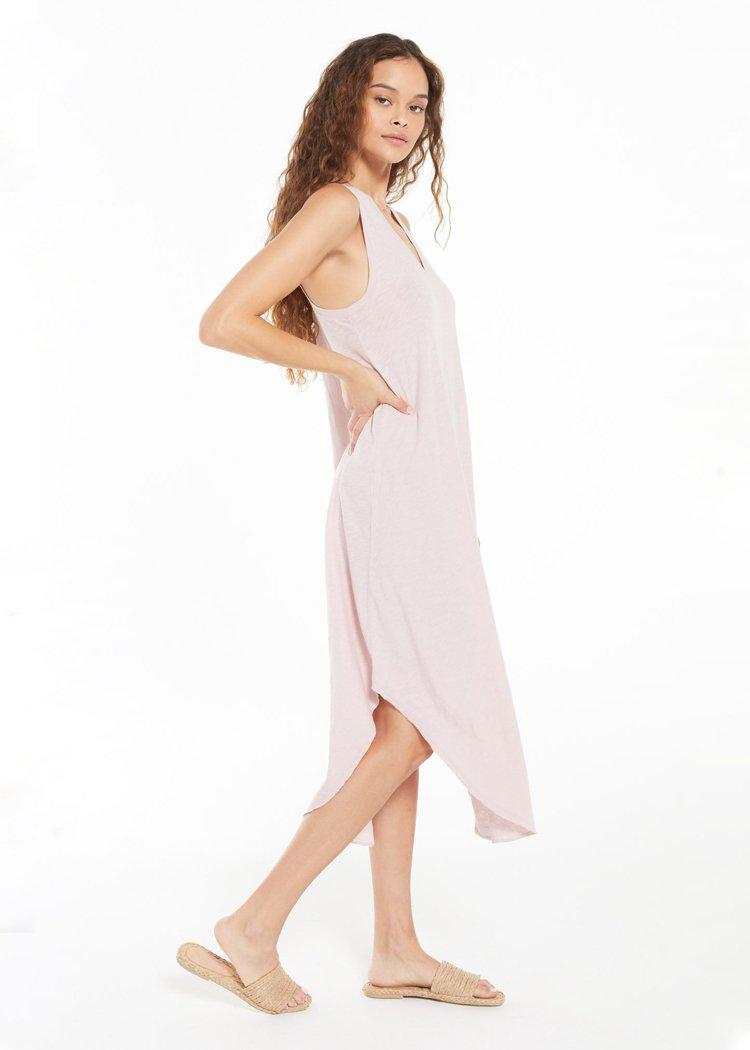 Supply Reverie Midi Dress - Lavender Grey ***PREORDER***-Hand In Pocket