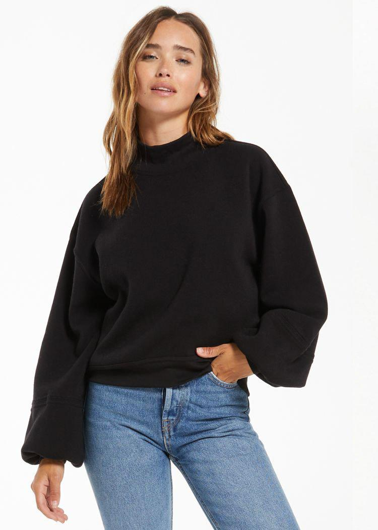 Z Supply Skylar Mock Neck Pullover ***FINAL SALE***-Hand In Pocket
