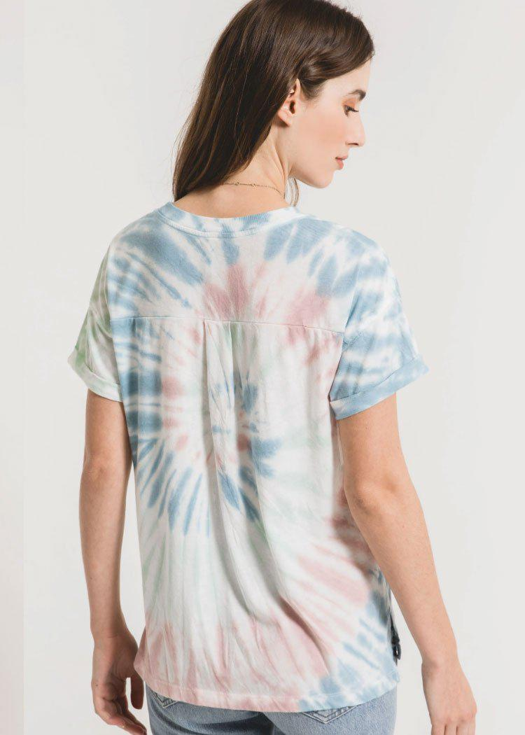 Z Supply Multi Color Tie Dye Tee - Tie Dye-Hand In Pocket
