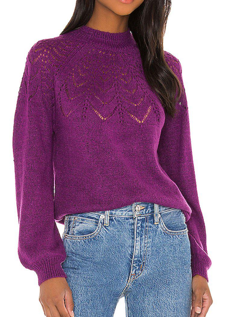 BB Dakota World Wide Web Sweater- Magenta-***PREORDER**-Hand In Pocket