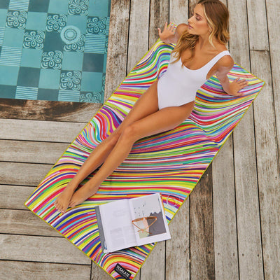 Tesalate - Ride The Rainbow Beach Towel