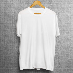 White Soft Feel Polyester T-shirts