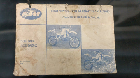 1986 KTM 500cc Two Stroke Owner's Manual