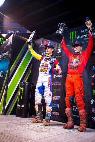 Musquin and Dungey Podium