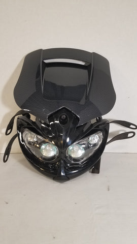 Suzuki DRZ400 Black Mamba Headlight - Carbon, Tail Light, DRC  - Langston Motorsports