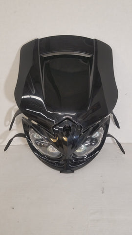 Suzuki DRZ400 Black Mamba Headlight - Black, Head Light, DRC  - Langston Motorsports