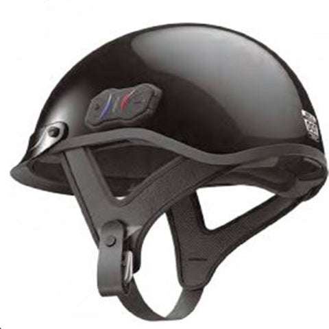 Sena Cavalry Bluetooth 3.0 Half Helmet Gloss Black, Helmet, WPS  - Langston Motorsports