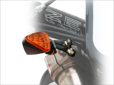 DRC Moto LED Front Flasher Holder Brackets, Flasher Brackets, DRC  - Langston Motorsports