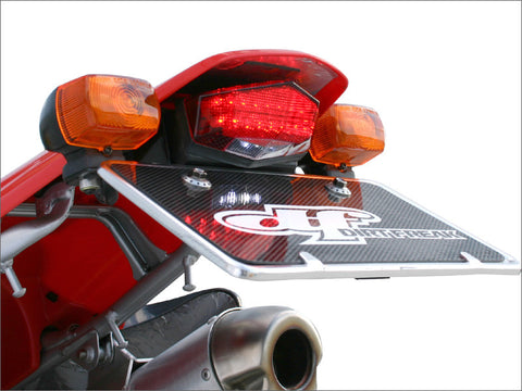 DRC Universal Moto LED Edge 2 Tail Light with Plastic license plate holder, Tail Light, DRC  - Langston Motorsports