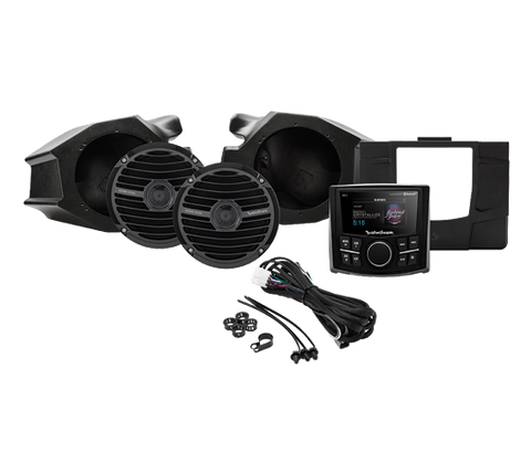 Polaris RZR Rockford Fosgate Stage 2 Stereo and Front Speaker audio kit, stereo system, Rockford Fosgate  - Langston Motorsports
