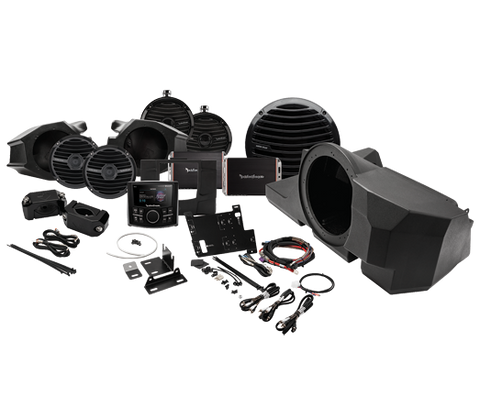 Polaris RZR Rockford Fosgate Stage 4 Stereo System with Front, Rear Speakers and Subwoofers, stereo system, Rockford Fosgate  - Langston Motorsports