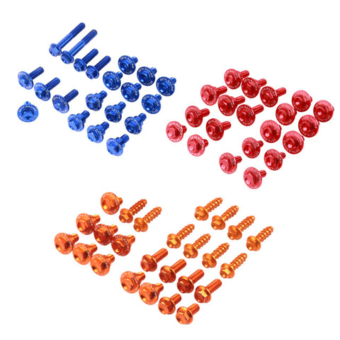 Zeta Anodized Aluminum Lightweight Colored Body Bolt Kits, Bolt Kit, Zeta  - Langston Motorsports