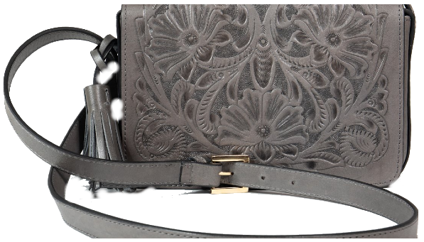 Cross Body Piel Gris