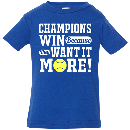 CHAMPIONS WIN INFANT'S SHIRTS