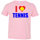 I LOVE TENNIS TODDLER'S SHIRTS