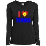 I LOVE TENNIS WOMEN'S LONG SLEEVE SHIRTS & SWEATSHIRTS