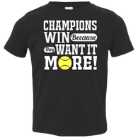 CHAMPIONS WIN TODDLER'S SHIRTS