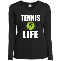 TENNIS IS LIFE WOMEN'S LONG SLEEVE SHIRTS & SWEATSHIRTS