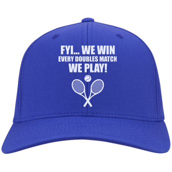 FYI WE WIN PERSONALIZED TWILL CAP