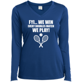 FYI WE WIN WOMEN'S LONG SLEEVE SHIRTS & SWEATSHIRTS