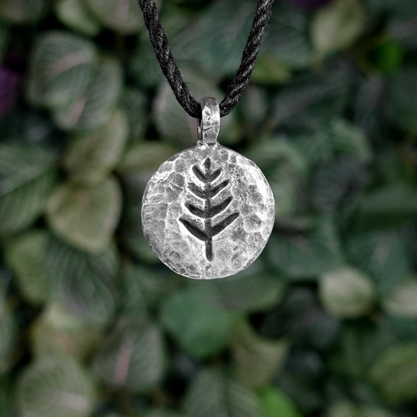 Hammered Tree Necklace