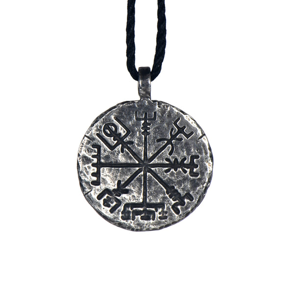 Double Sided Vegvísir Ægishjálmr Stave Necklace