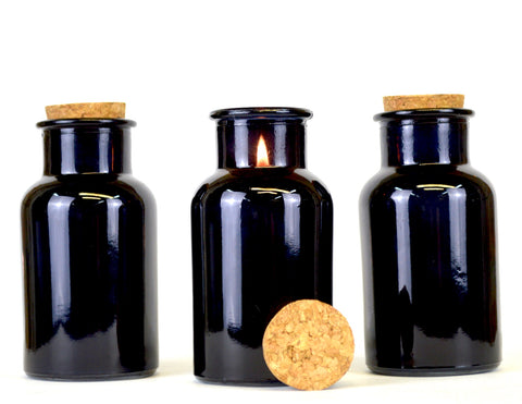 Small Dark Bottle Candle