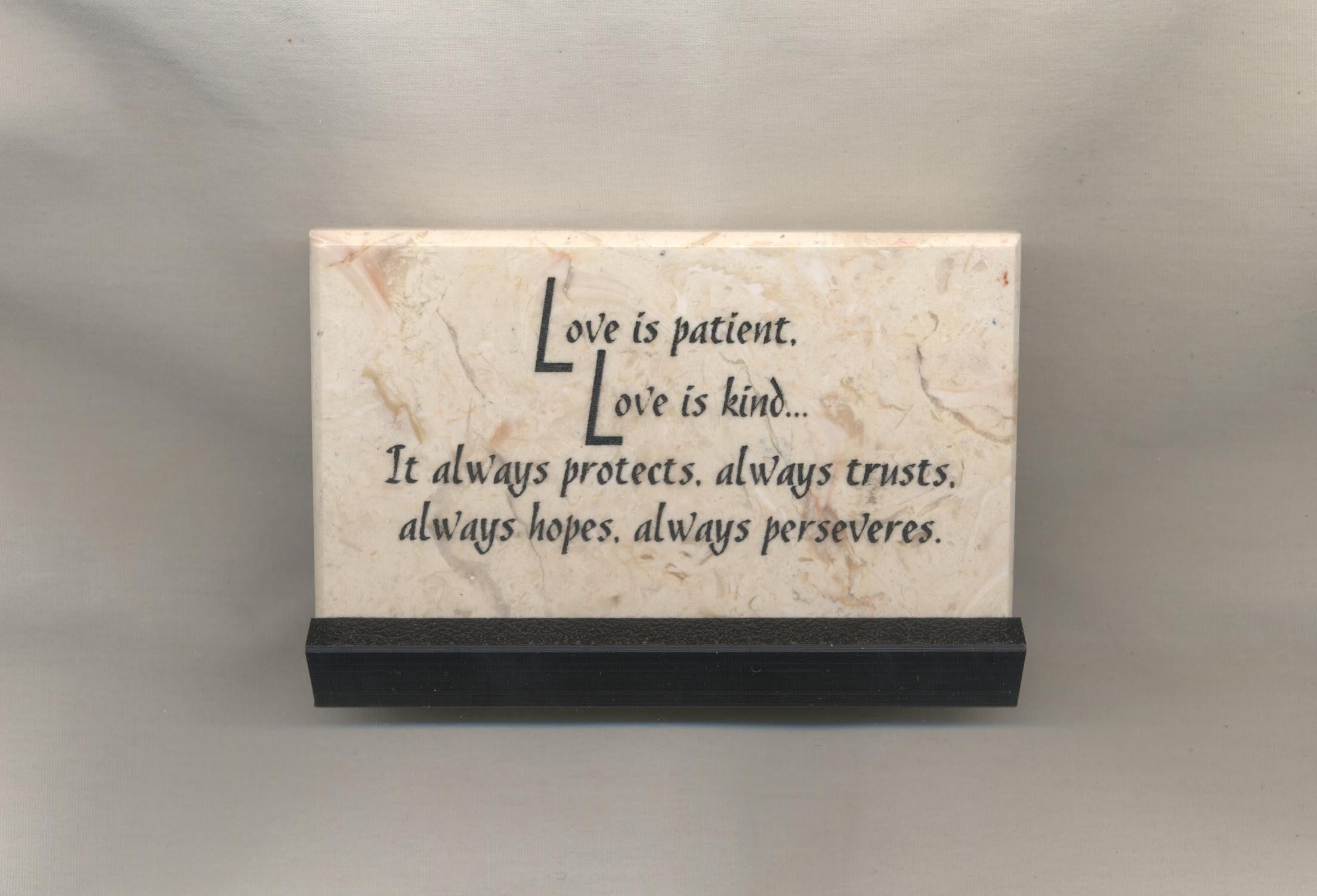 Love Is Patient Love Is Kind Prayer Stone Quotes From My Heart
