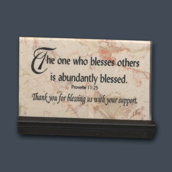 the one who blesses others prayer stone quotes from my heart