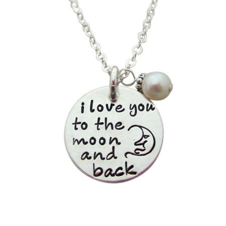 684084eab7 Love You to the Moon and Back Necklace - Quotes From My Heart