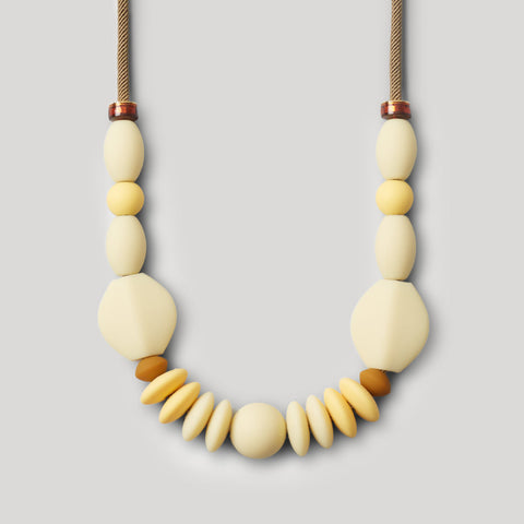 Cream Statement Teething Necklace