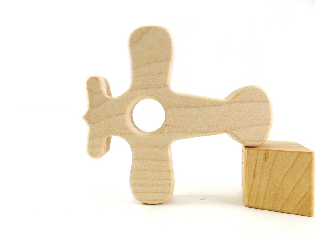 Airplane Wooden Teether