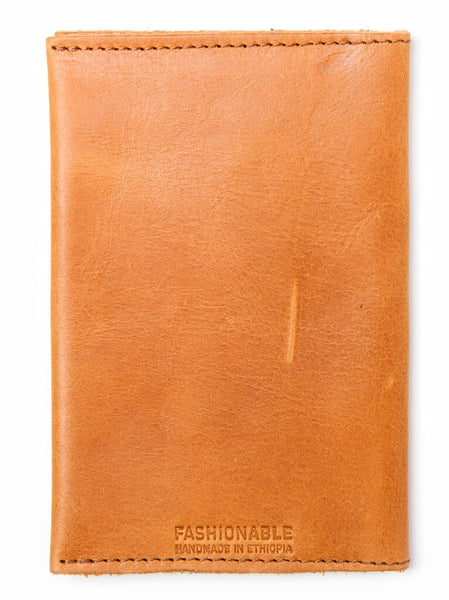EYERUSALEM PASSPORT WALLET - COGNAC